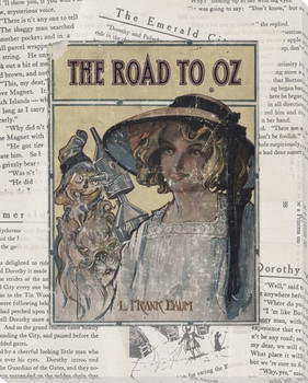 Books of Oz - Road Wrapped Canvas Giclee Print Wall Art
