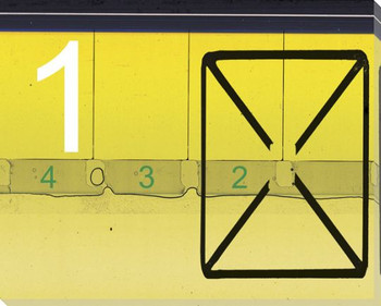TV Countdown Number 1 Wrapped Canvas Giclee Print Wall Art