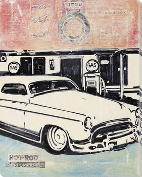 Drive a Chop Wrapped Canvas Giclee Print Wall Art