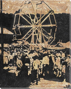 Ferris Wheel Wrapped Canvas Giclee Print Wall Art