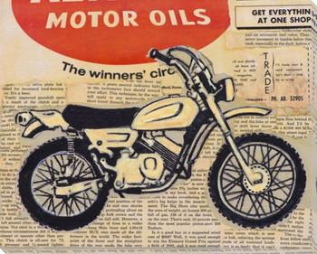 Vintage Bike Wrapped Canvas Giclee Print Wall Art