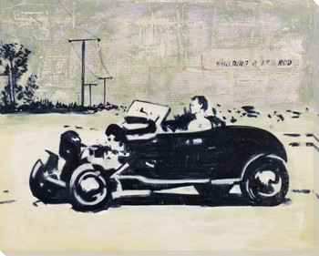 Drive a T Bucket Wrapped Canvas Giclee Print Wall Art