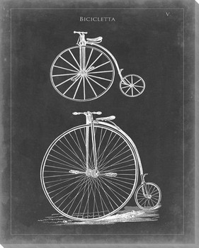 Vintage Bicycle I Wrapped Canvas Giclee Print Wall Art