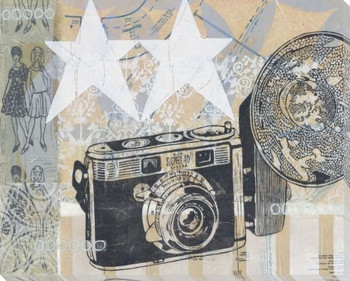 Vintage Flash Camera Wrapped Canvas Giclee Print Wall Art