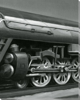 Vintage Locomotive II Wrapped Canvas Giclee Print Wall Art