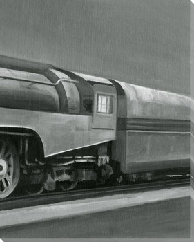 Vintage Locomotive III Wrapped Canvas Giclee Print Wall Art