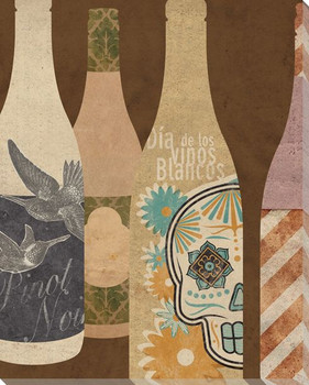 Wine Bottles 4 Wrapped Canvas Giclee Print Wall Art