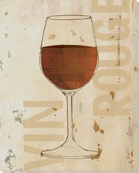 Vin Rouge Red Wine Wrapped Canvas Giclee Print Wall Art