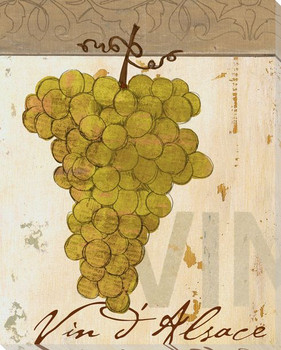 Bunch of White Grapes Wrapped Canvas Giclee Print Wall Art