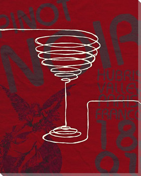 Pinot Noir Wine Glass Wrapped Canvas Giclee Print Wall Art