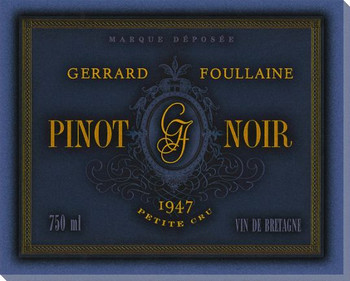 Gerrard Poullaine Pinot Noir Wine Wrapped Canvas Giclee Print