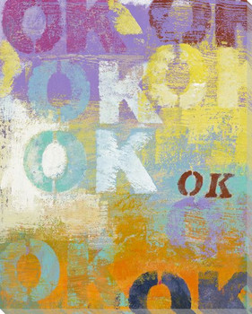 "Maybe I ""OK"" Wrapped Canvas Giclee Print Wall Art"