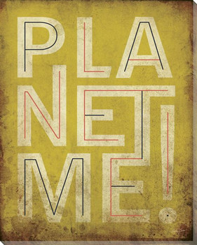 """Planet Me!"" Wrapped Canvas Giclee Print Wall Art"