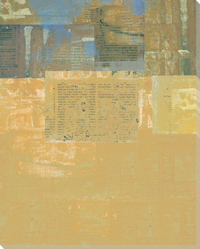 Yellow Chapter Wrapped Canvas Giclee Print Wall Art