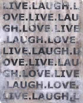Live Laugh Love Wrapped Canvas Giclee Print Wall Art