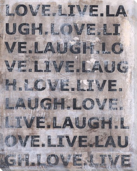 Love Live Laugh Wrapped Canvas Giclee Print Wall Art