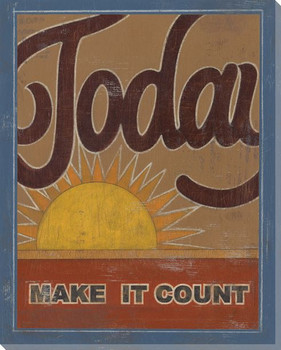 """""""Today"""" Make it Count Wrapped Canvas Giclee Print Wall Art"""