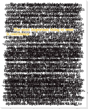 """Words of My Truth """"Confidence"""" Wrapped Canvas Giclee Print"""