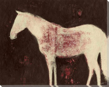 Cream Horse Wrapped Canvas Giclee Print Wall Art