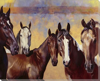 The Boys Horses Wrapped Canvas Giclee Print Wall Art