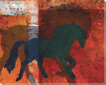 Beaver Creek Horse Wrapped Canvas Giclee Print Wall Art