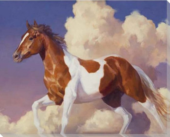 Flight Without Wings Paint Horse Wrapped Canvas Giclee Print