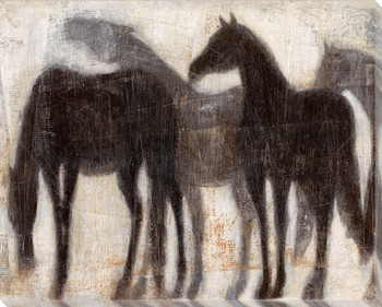 Grazing Equine Horses I Wrapped Canvas Giclee Print Wall Art