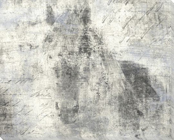 Equine Reverie Day Horse Facing Wrapped Canvas Giclee Print Wall Art