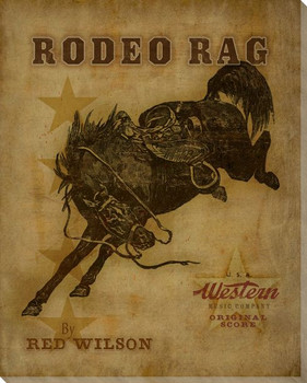 Rodeo Rag Wrapped Canvas Giclee Print Wall Art