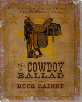 Cowboy Ballad Wrapped Canvas Giclee Print Wall Art