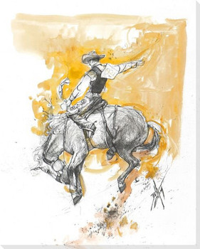 Slow Dance in a Burning Room Bronco Rider Canvas Giclee Print