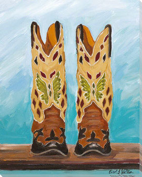 Why Women Love Cowboy Boots Wrapped Canvas Giclee Print Wall Art