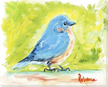 Bluebird Wrapped Canvas Giclee Art Print Wall Art