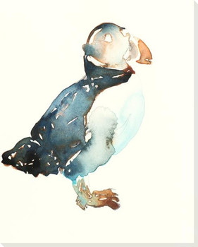 Puffin Bird Wrapped Canvas Giclee Art Print Wall Art