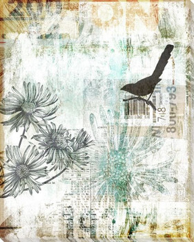 Songbird Duet Right Wrapped Canvas Giclee Print Wall Art