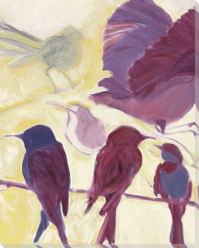 In Flight Birds Left Wrapped Canvas Giclee Print Wall Art