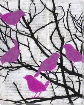 Vivid Visitors Birds II Wrapped Canvas Giclee Print Wall Art