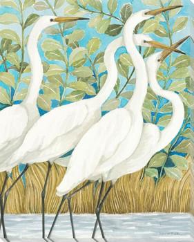 Coastal Encounter Birds I Wrapped Canvas Giclee Print Wall Art