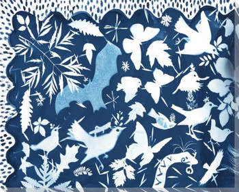 Phantasm Birds 1 Wrapped Canvas Giclee Print Wall Art