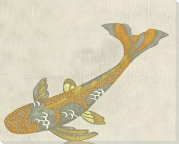 Koi Fish II Wrapped Canvas Giclee Print Wall Art