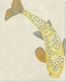 Koi Fish III Wrapped Canvas Giclee Print Wall Art