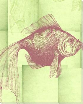 Silk Goldfish Wrapped Canvas Giclee Print Wall Art