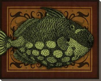 Island Fish III Wrapped Canvas Giclee Print Wall Art