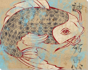 Tattoo Koi Fish I Wrapped Canvas Giclee Print Wall Art