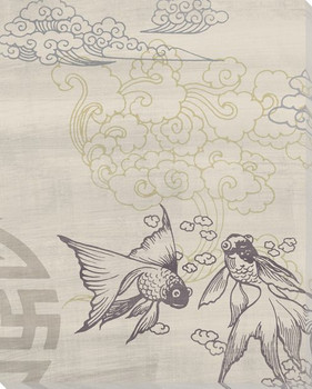 Twilight Koi Fish Wrapped Canvas Giclee Print Wall Art