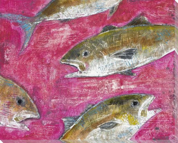 Fresh Catch Fish II Wrapped Canvas Giclee Print Wall Art