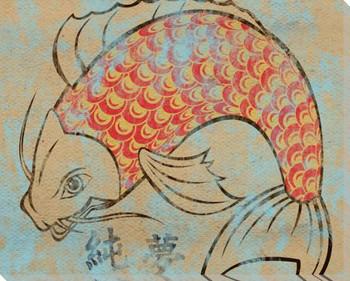 Tattoo Koi Fish III Wrapped Canvas Giclee Print Wall Art