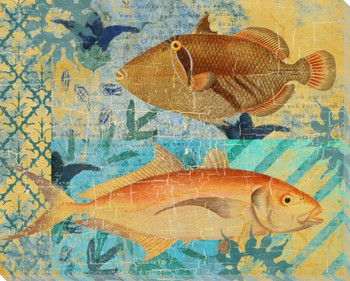 Caribbean Cove Fish 2 Wrapped Canvas Giclee Print Wall Art