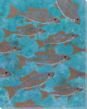Vermilion Cloud Snapper Fish Wrapped Canvas Giclee Print Wall Art