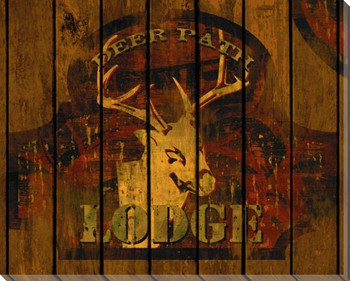 Deer Path Lodge Wrapped Canvas Giclee Print Wall Art